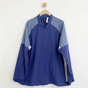 Adidas Blue Zip Up Wind Breaker Track Jacket